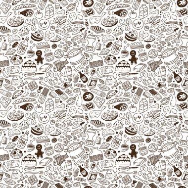 Food - seamless pattern