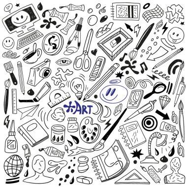 art tools doodles