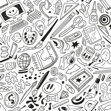 art tools - seamless vector pattern