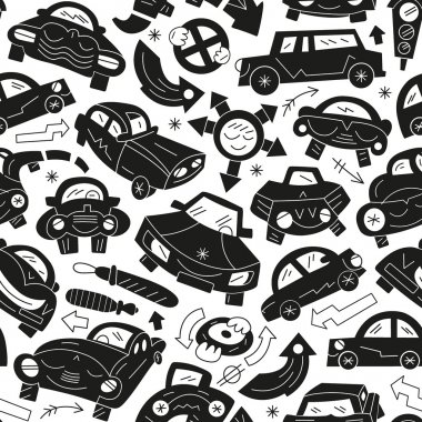 cars - seamless pattern