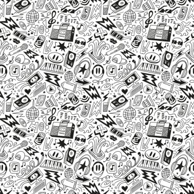 music party - seamless pattern