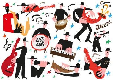 Jazz musicians - vector illustration