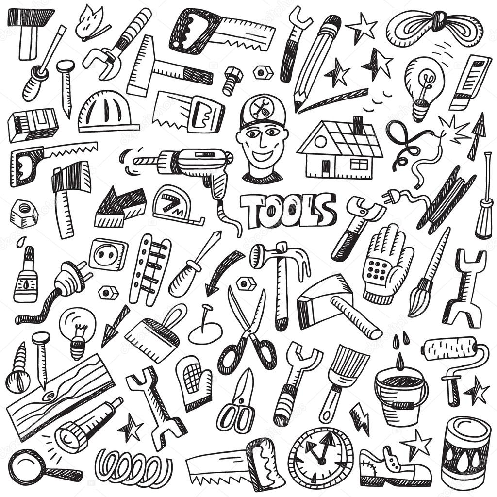 working tools - doodles set
