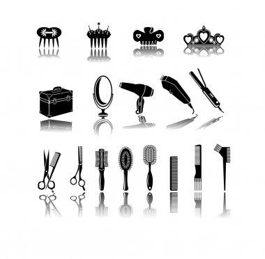 Hair Salon Icons. Hair Accessories