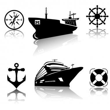Ships icon set.