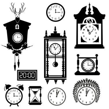 Clocks icon set