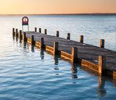 Pier v ranní světla