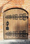 Photo The old wooden door