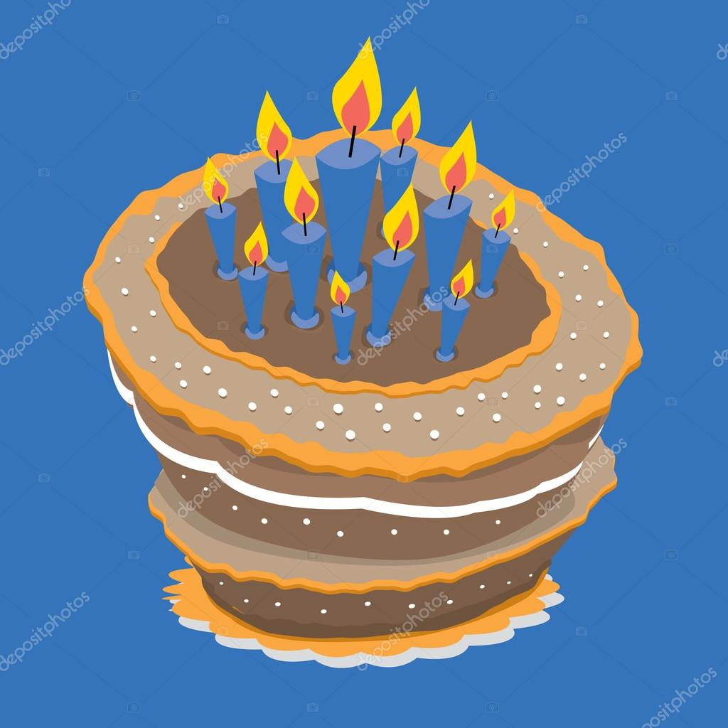 Phenomenal Funny Birthday Cake Stock Vector C Curvabezier 23836617 Personalised Birthday Cards Paralily Jamesorg