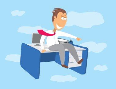 Flying desk. Career opportunities
