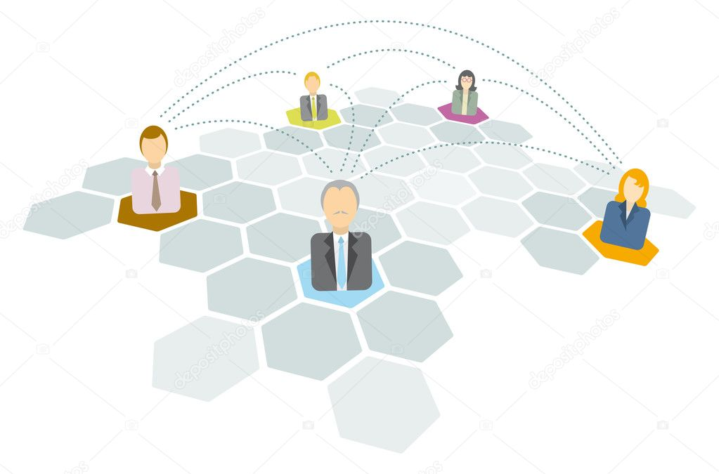 Business connecting or Networking icons