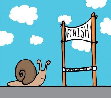 Snail reaching his goal