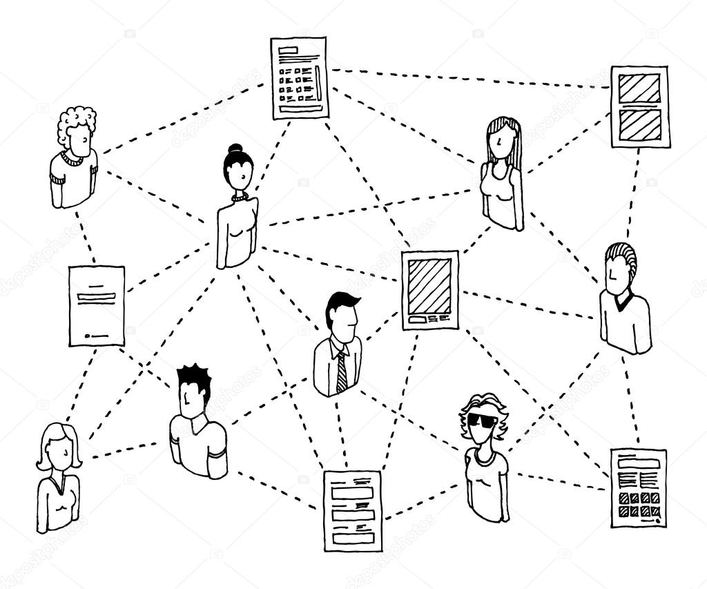 Sharing documents. Data Network