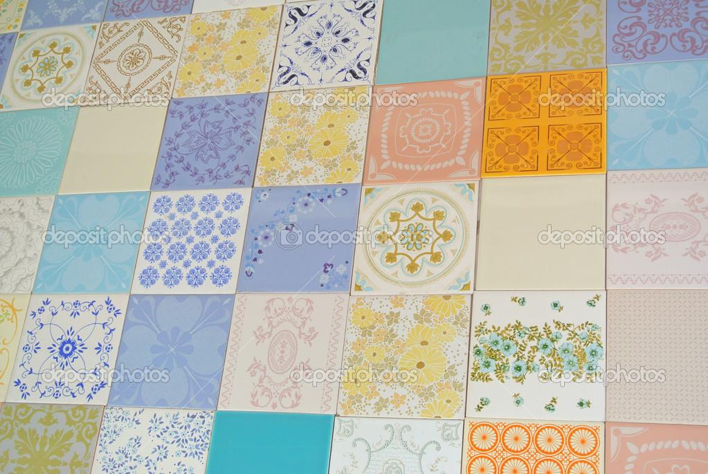 Texture tile assortiti come patchwork u foto stock curvabezier