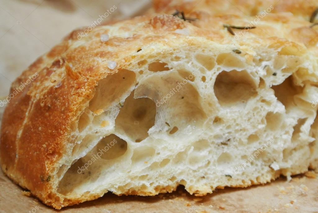 Focaccia bread closeup