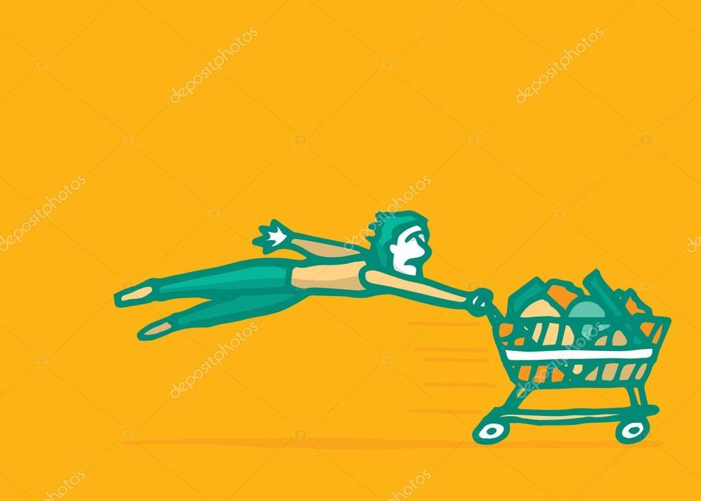 Schnelle einfache online Kauf Konsum — Stockvektor © Curvabezier ...
