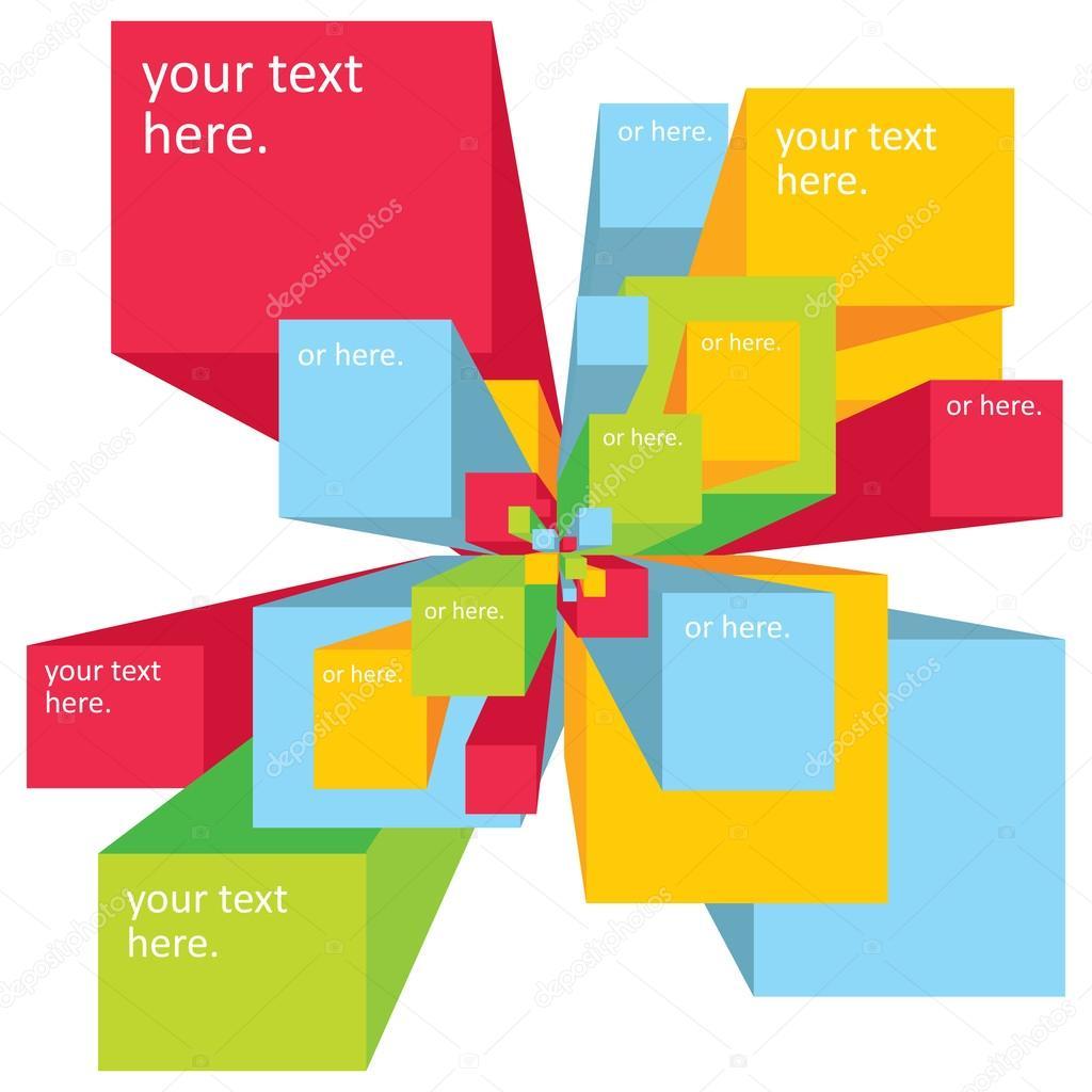 Vector fondo explosión digital para la presentación — Vector de ...