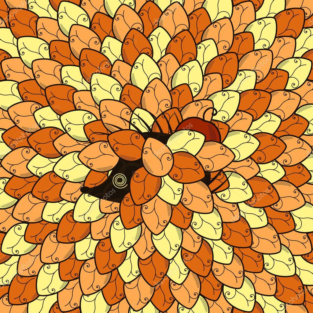 hedgehog in leaves