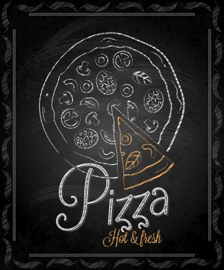 Chalkboard - frame pizza menu