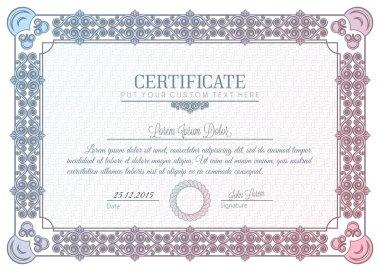 Certificate frame charter diploma