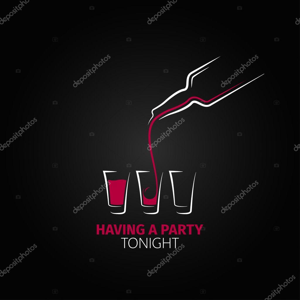 Cocktail shot glass bottle design background