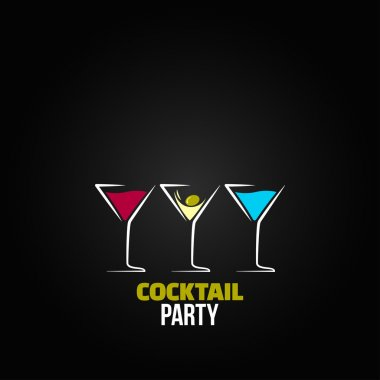 Cocktail party glass design menu background