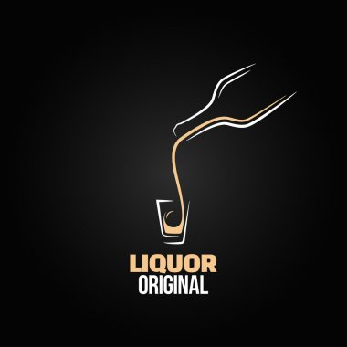 Liquor shot glass bottle design menu background