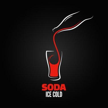Soda bottle splash design menu background