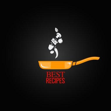Frying pan design menu background