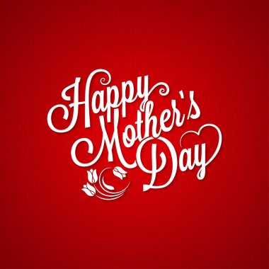 Mothers day vintage lettering background