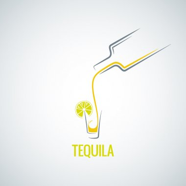 tequila shot bottle glass menu background
