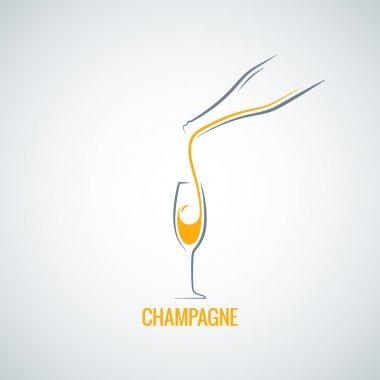 champagne glass bottle background