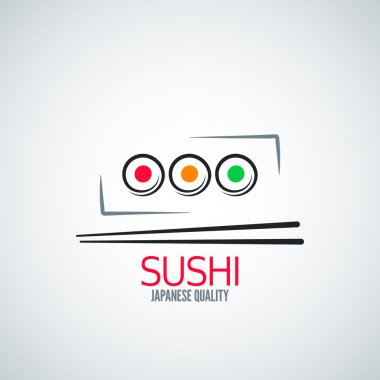 sushi roll plate menu background