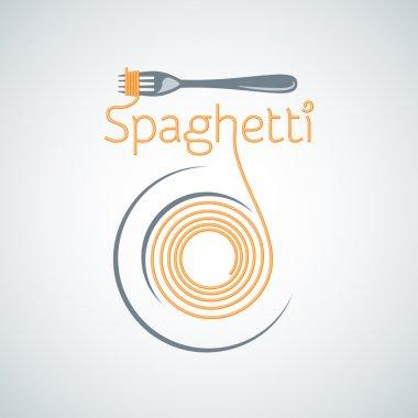 spaghetti pasta plate fork background