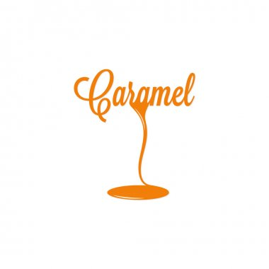 caramel isolated sign
