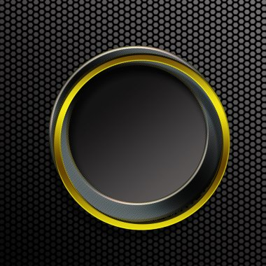button ring black and gold metallic background