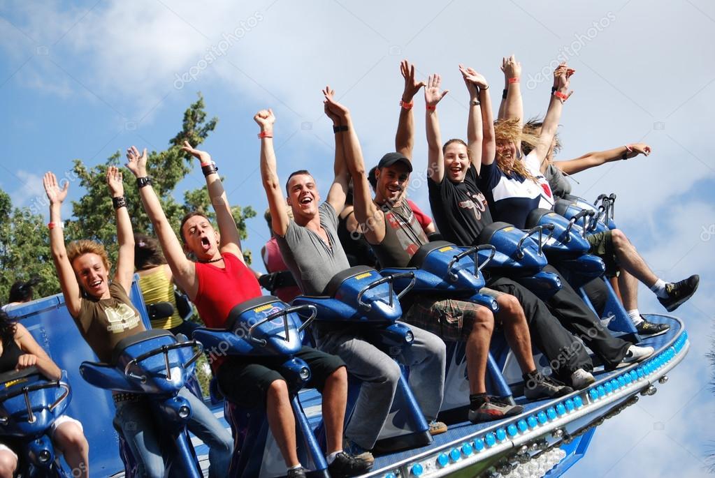 Disco rotary amusement park