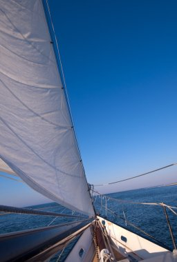 Sailboat in motion