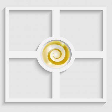 abstract object with yellow spiral