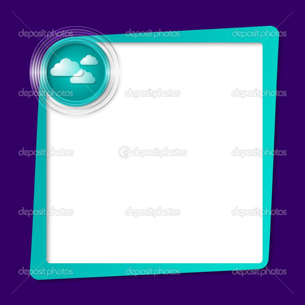marco de texto verde para cualquier texto y círculos transparentes ...
