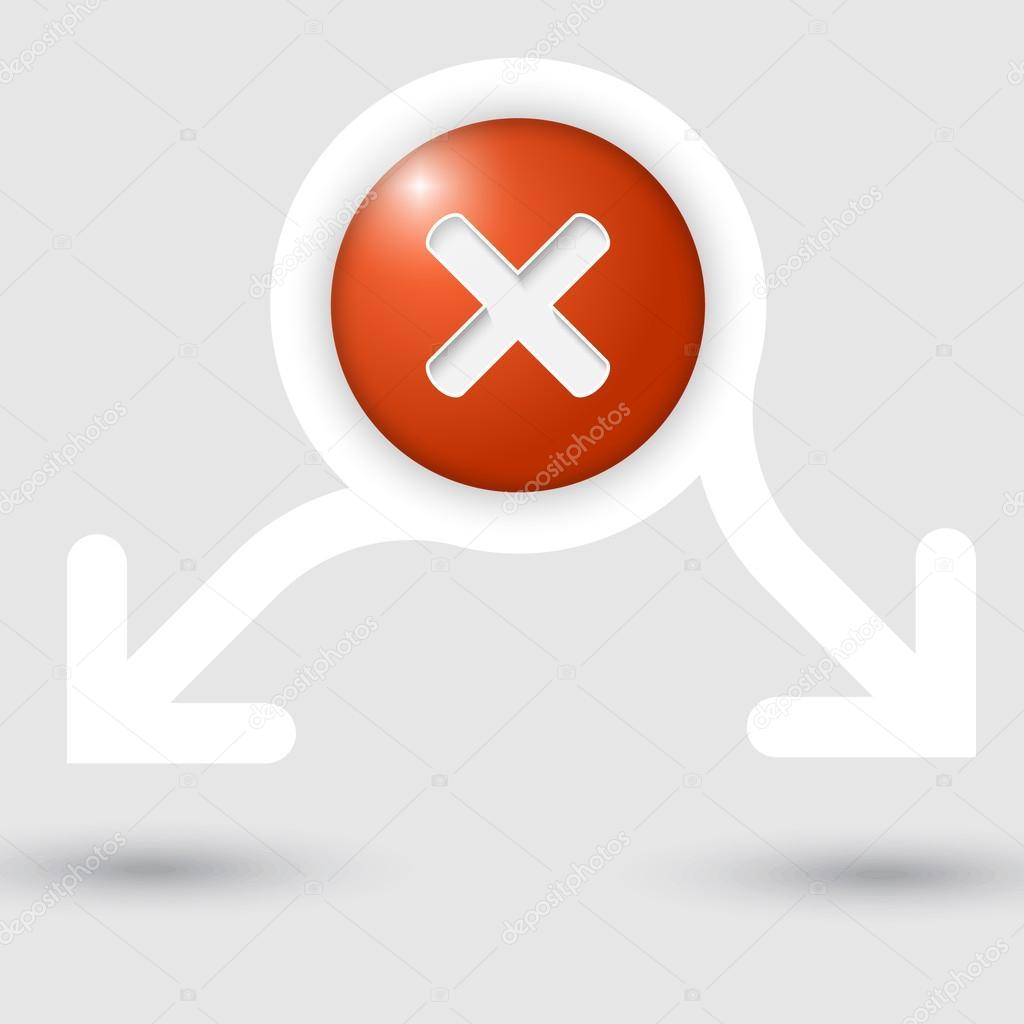 Resumen de marco de texto con dos flechas y prohibición de marca ...