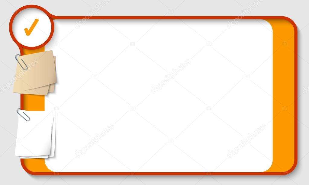 Cuadro De Texto Vector Para Cualquier Texto Con Dos Clips