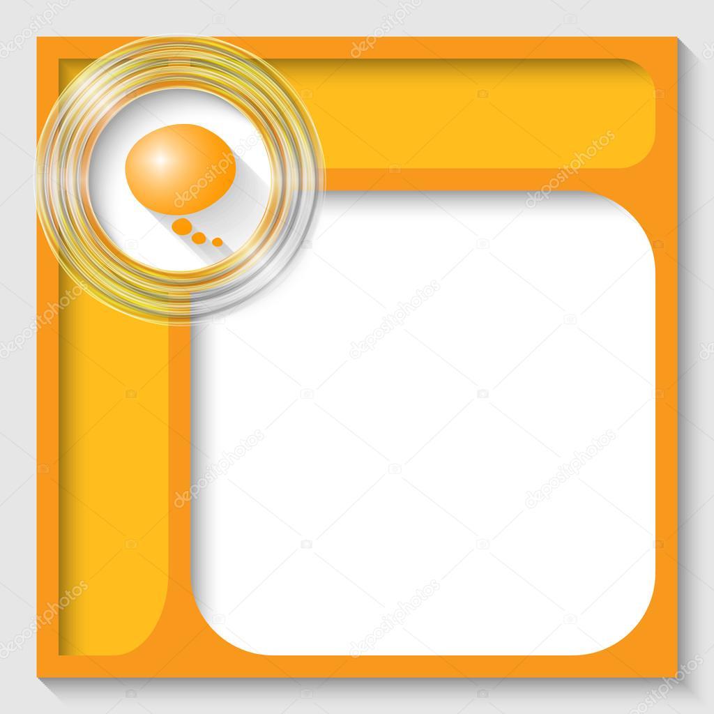 vector abstracto marcos para texto y discurso burbuja — Archivo ...