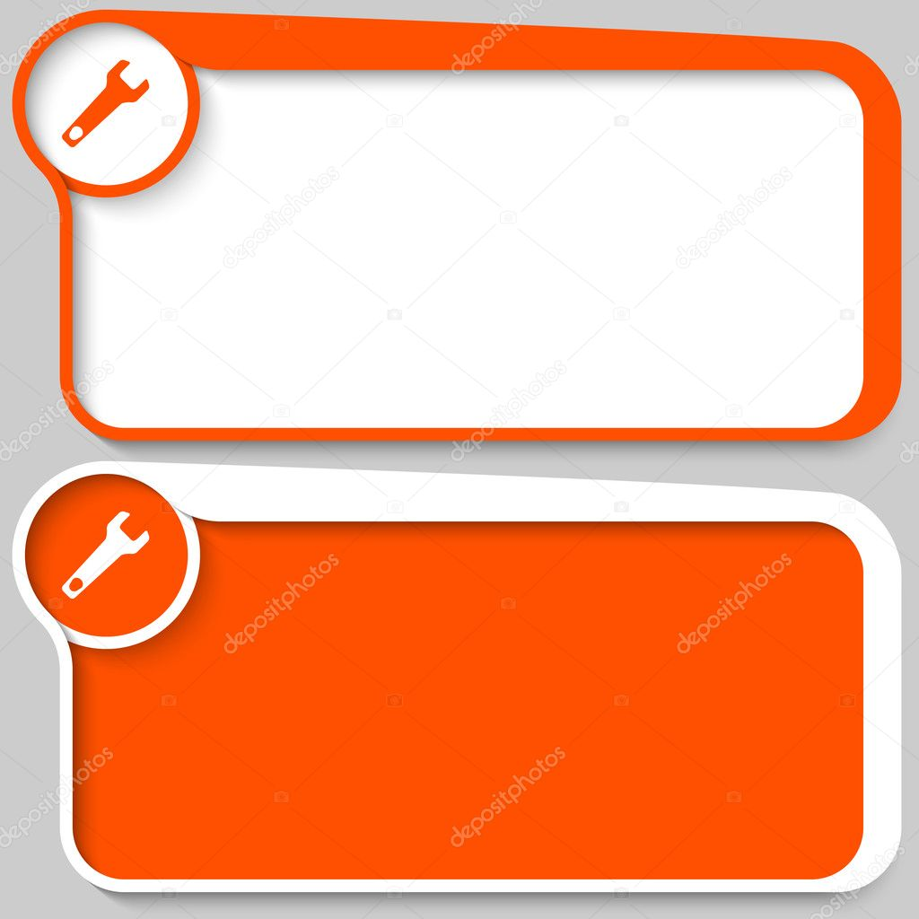 Set of two vector text box and spanner