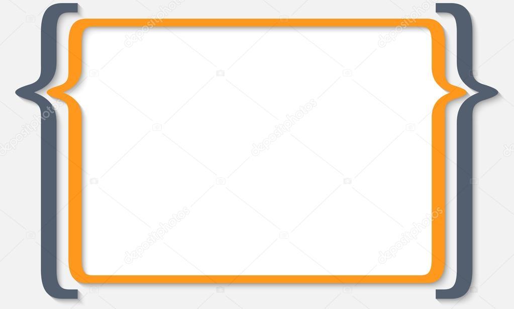 Tekstvak Voor Elke Tekst Met Vierkante Haken Stockvector