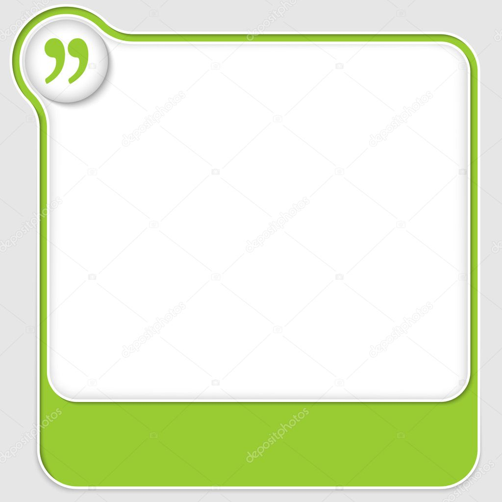 set of two vector text boxes with quotation mark
