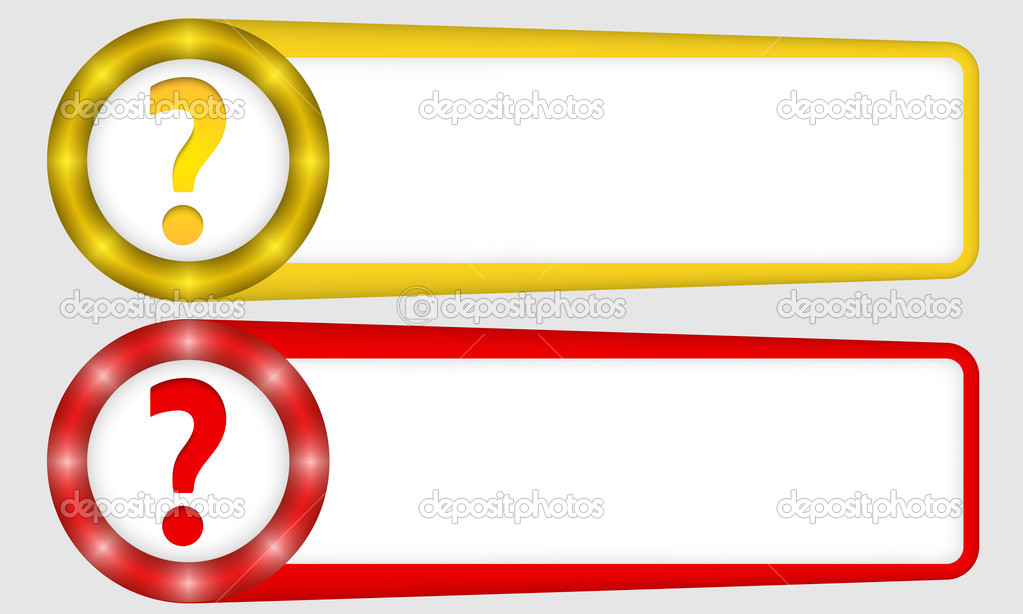 yellow and red frames for any text with question mark — Stock Vector ...