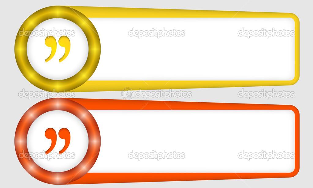 Marcos rojos y amarillos para cualquier texto con comillas — Vector ...