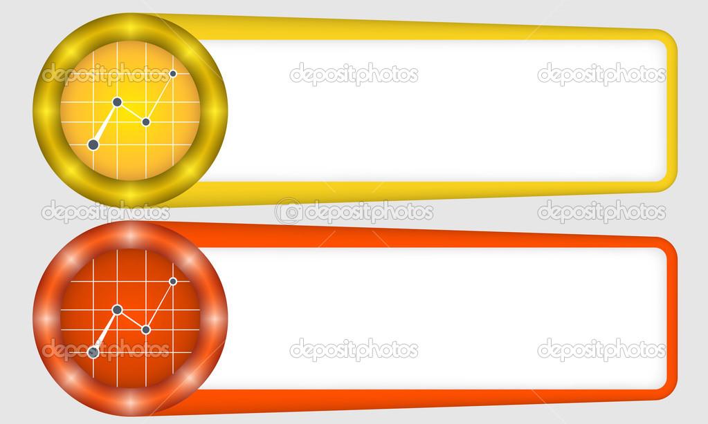 Marcos rojos y amarillos para cualquier texto con gráfico — Vector ...
