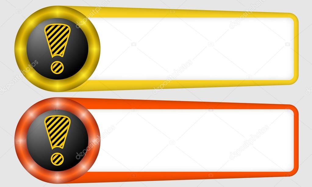 Marcos rojos y amarillos para cualquier texto con signo de ...